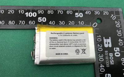 Custom Lithium Polymer Battery Pack LP805050 2200mAh for Car Gadget