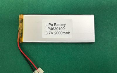 LP4639100 2000mAh Lithium Polymer Battery