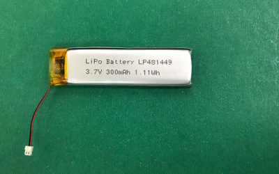 LP481449 300mAh 3.7V Lithium Polymer Battery