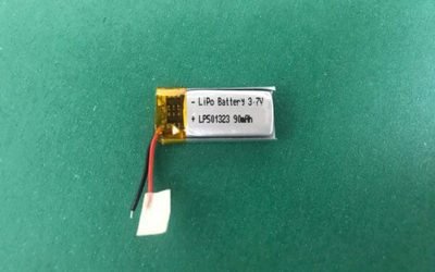 Smallest Lithium Polymer Battery 3.7V LP501323 90mAh