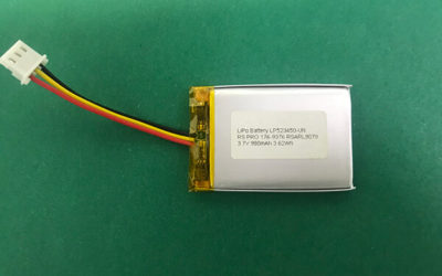 3.7V Lithium Polymer Battery LP523450 980mAh