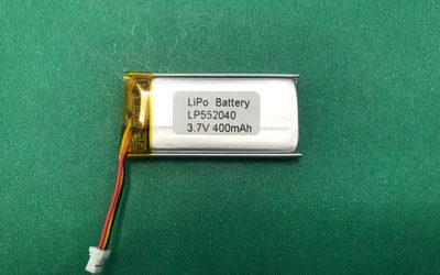 LP552040 400mAh 3.7V Lithium Polymer Battery