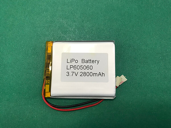 LP605060 2800mAh 3.7V Lithium Polymer Battery