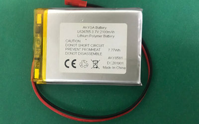 Rechargeable Lithium Polymer Battery 3.7V LP624765 2100mAh