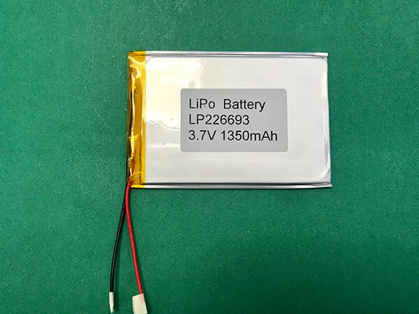 Slight Lithium Polymer Battery 3.7V LP226693 1350mAh