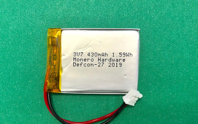 LP403040 LiPol Battery 3.7V 430mAh 1.59Wh