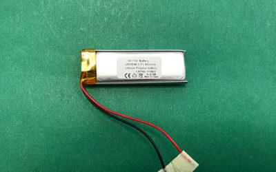 Narrow Lithium Polymer Battery LP651648 450mAh