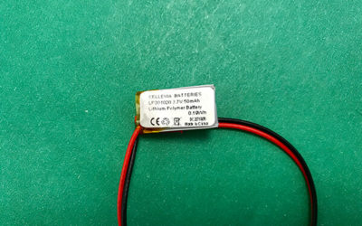 Small Lithium Polymer Battery 3.7V LP301020 50mAh