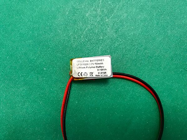 Small Lithium Polymer Battery 3.7V LP301020 50mAh