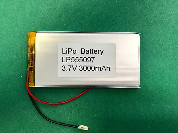 Long Lithium Polymer Battery 3.7V LP555097 3000mAh