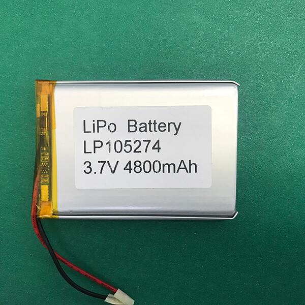 Lithium Polymer Battery LP105274 4800mAh 3.7V 17.76Wh