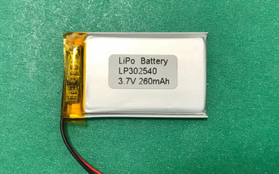 Lithium Polymer Battery 3.7V LP302540 260mAh 0.96Wh