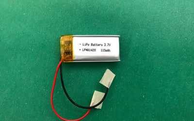 Rectangle Lithium Polymer Battery 3.7V LP401428 115mAh 0.43Wh