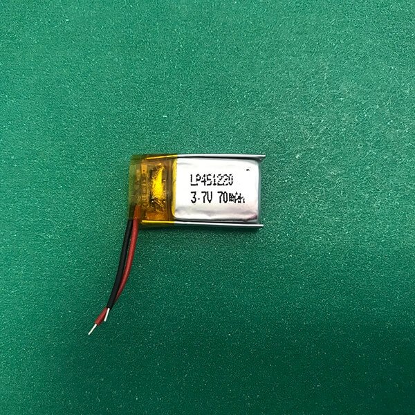 3.7V Small Lithium Polymer Battery LP451220 70mAh 0.259Wh