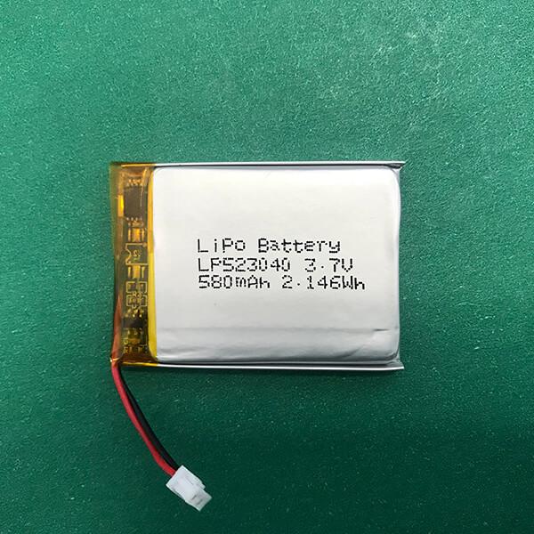 Rectangle Lithium Polymer Battery 3.7V LP523040 580mAh 2.146Wh