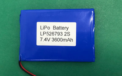 High Capacity LP526793 2S 7.4V Lithium Polymer Battery 3600mAh 26.64Wh