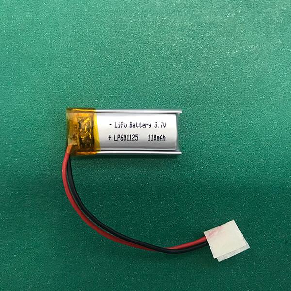 3.7V Rectangular Lithium Polymer Battery LP601125 110mAh 0.41Wh