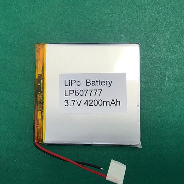 3.7V Square Lithium Polymer Battery LP607777 4200mAh 15.54Wh