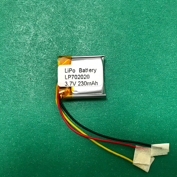 3.7V Square Lithium Polymer Battery Small LP702020 230mAh 0.85Wh
