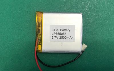 LP855055 2500mAh Lithium Polymer Battery 3.7V 9.25Wh