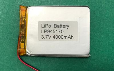 Lithium Polymer Battery 3.7V 4000mAh LP945170 14.8Wh