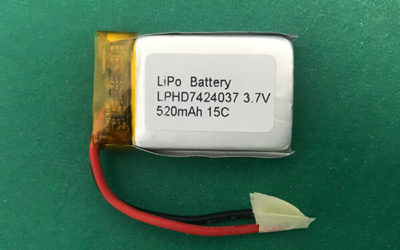 15C High Rate Lithium Polymer Battery 3.7V LPHD7424037 520mAh