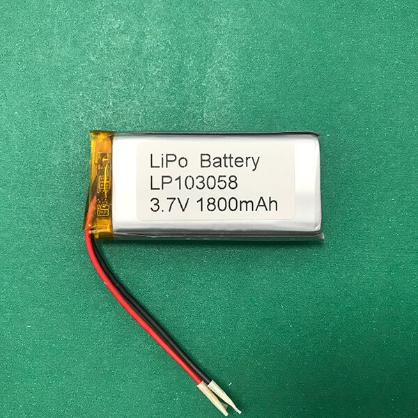 Lithium Polymer Battery Pack 3.7V LP103058 1800mAh 6.66Wh