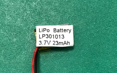 Small Lithium-polymer Battery 3.7V Rechargeable LP301013 23mAh 0.085Wh