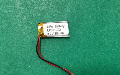 Newest Small 3.7V Lithium Polymer Battery LP321323 80mAh 0.296Wh