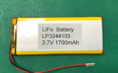 3.7V Long Lithium Polymer Battery LP3244103 1700mAh 6.29Wh