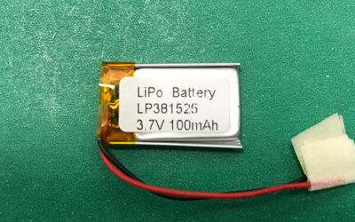 3.7V 100mAh Lithium Polymer Battery LP381525 0.37Wh