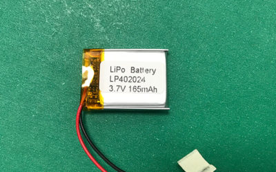 3.7V Square Lithium Polymer Battery LP402024 165mAh 0.611Wh