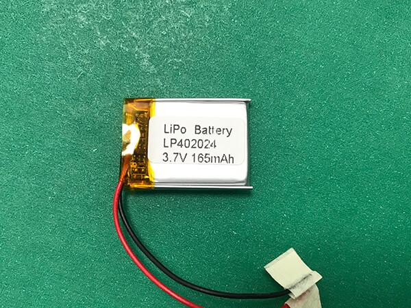 3.7V Square Lithium Polymer Battery LP402024 165mAh 0.611Wh