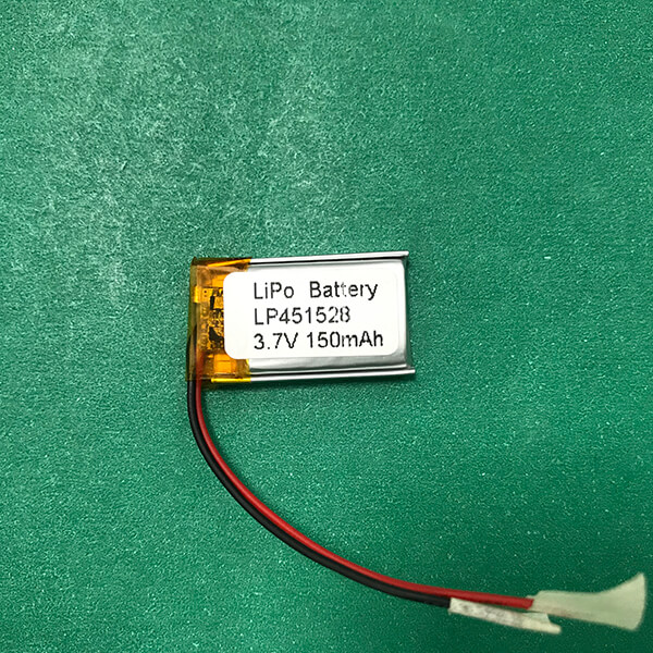 3.7V Small Lithium Polymer Battery LP451528 150mAh 0.555Wh