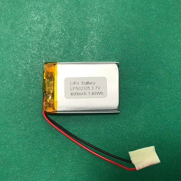 Rechargeable Lithium Polymer Battery 3.7V LP502535 400mAh 1.48Wh