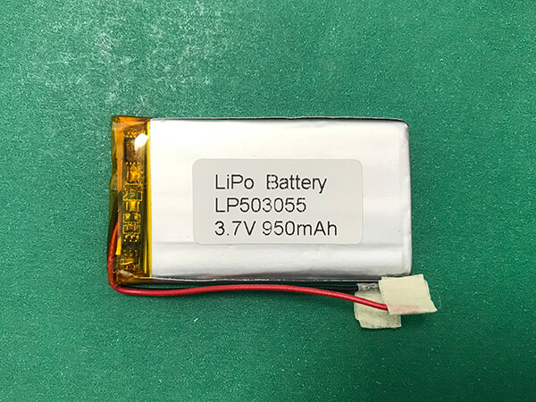 3.7V Long Lithium Polymer Battery LP503055 950mAh 3.515Wh