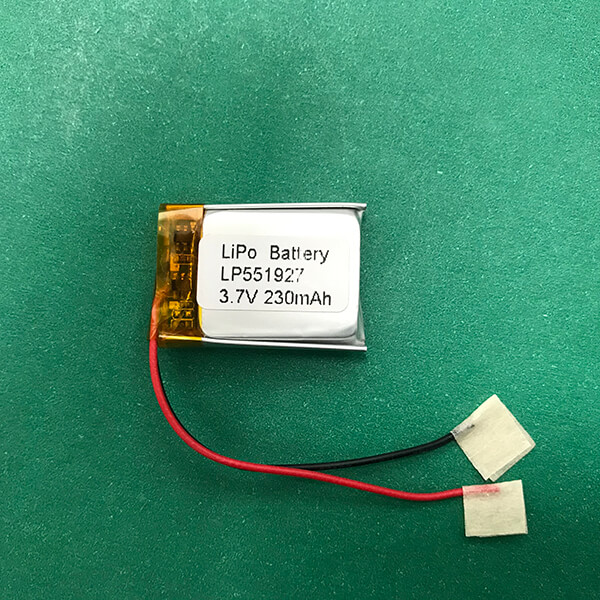 Lithium Ion Polymer Battery 3.7V LP551927 230mAh 0.851Wh