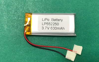 Lithium Ion Polymer Rechargeable Battery LP552250 600mAh 3.7V 2.22Wh
