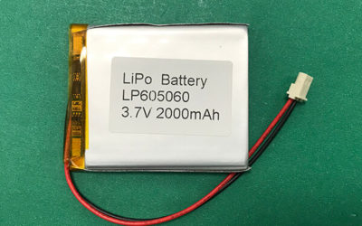 2000mAh Square Lithium Polymer Battery 3.7V LP605060 7.4Wh