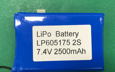 New Rechargeable Lithium Polymer Battery LP605175 2S 7.4V 2500mAh