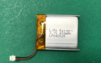 3.7V Lithium Polymer Battery LP642528 400mAh 1.48Wh
