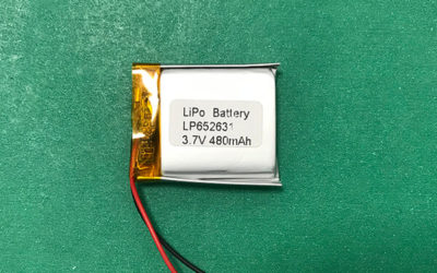 Small 3.7V Lithium Polymer Battery LP652631 480mAh