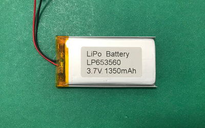 3.7V Lithium Polymer Battery Pack LP653560 1350mAh 4.995Wh