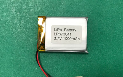 Standard Lithium Polymer Battery 3.7V LP673041 1000mAh