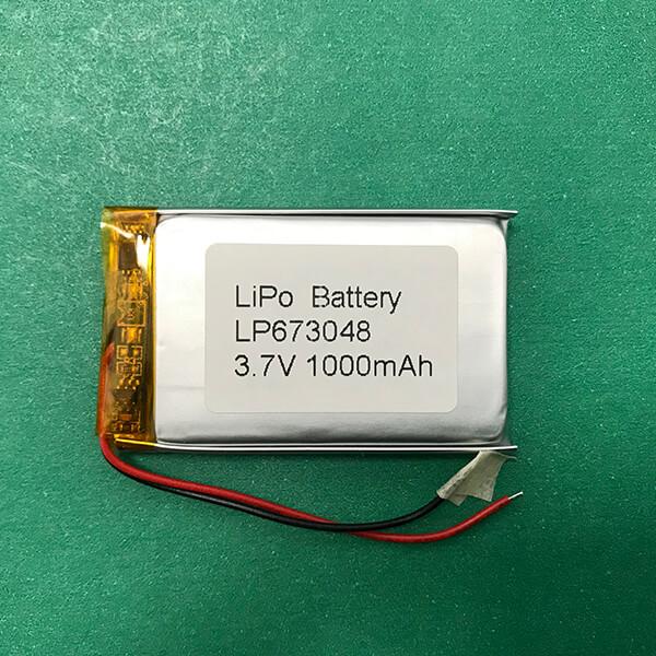 LP673048 Lithium Polymer Battery 1000mAh 3.7V