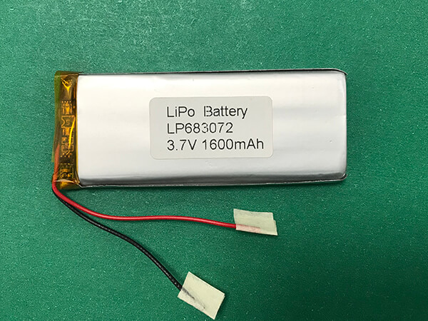 Long Lithium Polymer Battery 3.7V LP683072 1600mAh 5.92Wh