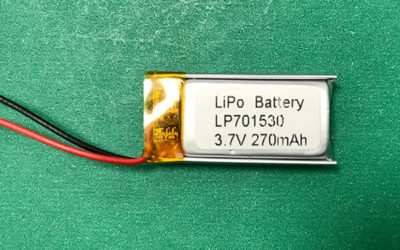 Rectangular Lithium Polymer Battery 3.7V LP701530 270mAh 0.999Wh