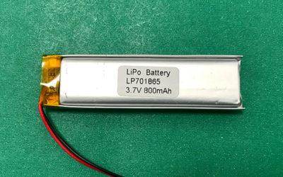 3.7V Long Lithium Polymer Battery LP701865 800mAh 2.96Wh
