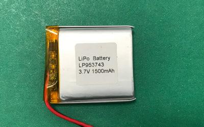 LP953743 3.7V Custom Lithium Polymer Battery 1500mAh 5.55Wh