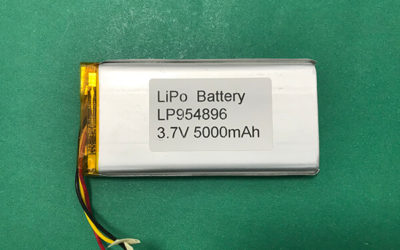 5000mAh Lithium Polymer Battery 3.7V LP954896 High Capacity 18.5Wh